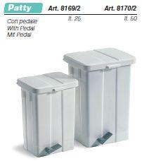 PATTY műanyag hulladékgyűjtő, 25l, fedővel, pedállal